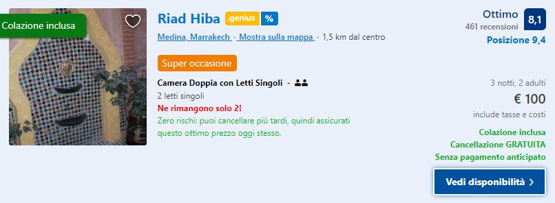 Marrakech a novembre: 3 giorni a 94€ Volo+Soggiorno ...